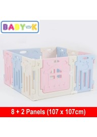 BABY-K Moo Moo Safety Play Yard 8+2 Panels